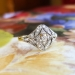 Antique Art Nouveau 1910 Diamond Cocktail Anniversary Engagement Ring 18k Gold