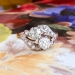 Antique 1890's Victorian Old Mine Cut Bypass Toi Et Moi Engagement Ring Anniversary 18k Rose Gold Platinum