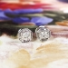 Art Deco 1930's Vintage Filigree Old European Cut Diamond Stud Earrings Platinum 14k White Gold
