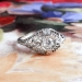 Art Deco Vintage 1930's Old European Cut Diamond Engagement Wedding Platinum Filigree Ring