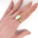 Antique Opal Ring Art Nouveau Arts & Crafts 1900's Opal Jones & Woodland Ring 18k Yellow Gold