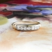 Art Deco Wedding Band Circa 1930's .14ct t.w. Seven Diamond Wedding Band 14k Yellow White Gold