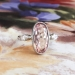 Art Deco Precious Pink Topaz Diamond Ring Circa 1930's Vintage Engagement Birthstone Cocktail Ring Platinum