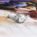 Art Deco Engagement Ring Circa 1930's Vintage Old European Cut Diamond Engagement Solitaire Ring 18k White Gold