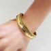 Antique Victorian 1850's Etruscan Revival Cuff Bracelet Hinged 18k Yellow Gold 5.75' Inch Wrist