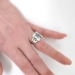 Vintage 8.46ct t.w. Emerald Cut Aquamarine Ring Circa 1940's Diamond Birthstone Engagement Wedding Ring Platinum