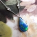 Estate Large 5.60ct t.w. Solid Black Opal & Diamonds By The Yard Necklace 21.5' Inches 14k White Gold Platinum