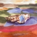 Antique Art Nouveau 1900's Moonstone Birthstone Engagement Cocktail Ring 14k Rose Gold