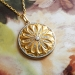 Art Nouveau 1900's Antique Old Rose Mine Cut Diamond 18k Yellow Gold Platinum Locket Pendant Necklace