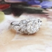 Vintage Art Deco 1930's 1.70ct t.w. Old European Cut Diamond Platinum Engagement Wedding Anniversary Ring