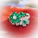Vintage Oscar Heyman Emerald and Diamond Floral Bypass Ring 1.51ct t.w. Platinum