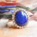 Bluebird 6.18ct t.w. Victorian Influenced Antique Black Opal & Old Mine Cut Diamond Halo 18k Rose Gold Ring