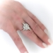 The North Star Ring 2.10ct t.w. Old European Cut Diamond Engagement Anniversary Ring 18k Rose Gold Platinum
