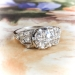 Art Deco 1.10 ct. tw. Diamond Engagement Ring Platinum