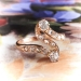 Antique Art Nouveau Diamond Swirl Ring in 18k Rose Gold