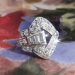 Art Deco 1.48ctw. Diamond Buckle Ring in Platinum
